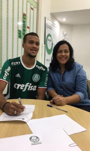 Gabriel Barbosa mãe Palmeiras