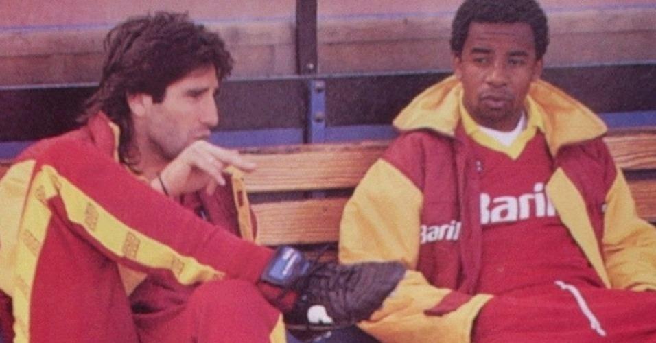 Brasileiros Renato Gaúcho e Andrade defenderam a Roma na década de 90
