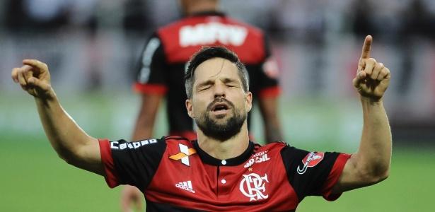 O Flamengo espera contar com Diego no importante clássico contra o Vasco