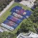 Fãs do Barça fazem mosaico gigante do clube em Manhattan; veja