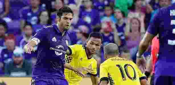 Kaká em ação no último jogo em casa pelo Orlando City, contra o Columbus Crew - Divulgação