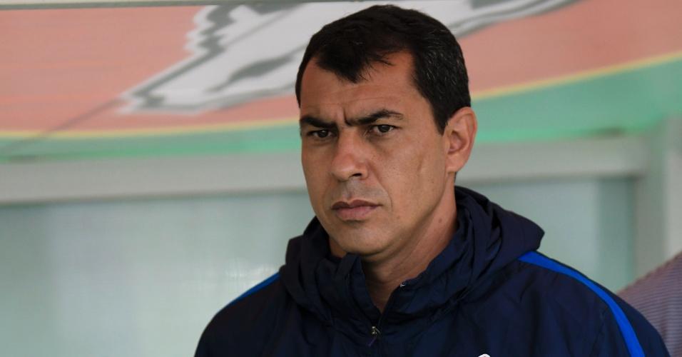 O técnico Fabio Carille comanda o Corinthians contra o Flamengo