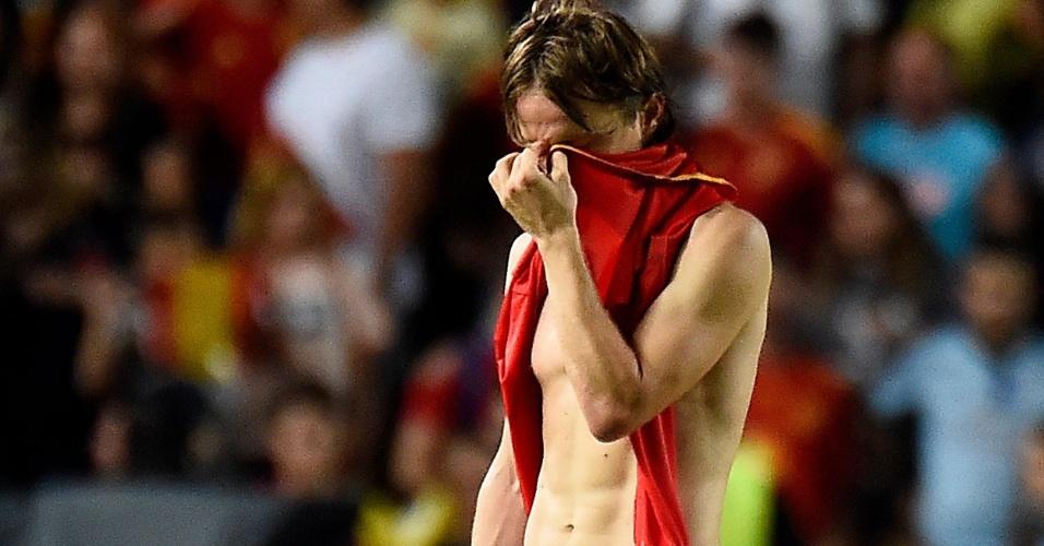 Luka Modric lamenta goleada sofrida pela Croácia para a Espanha, por 6 a 0