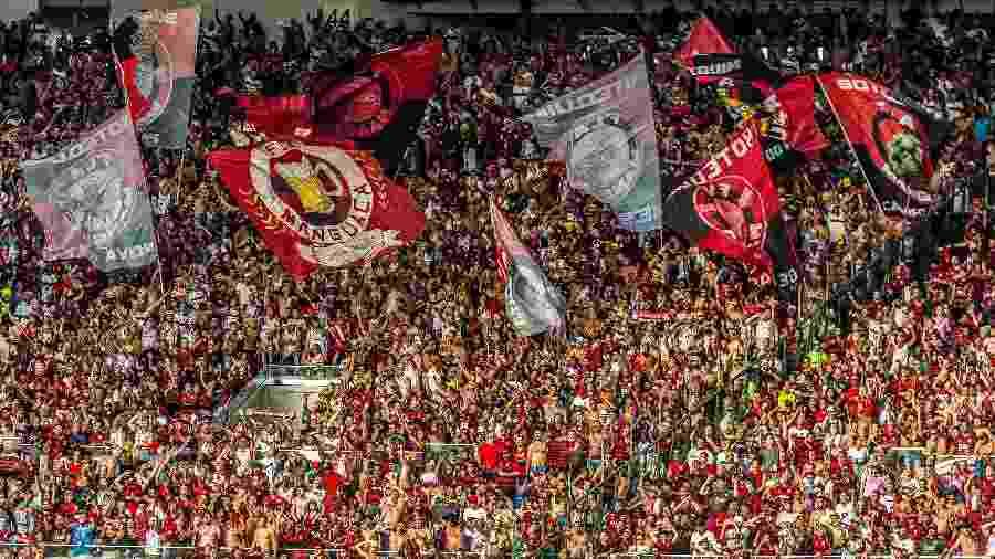 Torcida do Flamengo durante jogo contra o Corinthians - Alexandre Vidal - Marcelo Cortes & Paula Reis / Flamengo