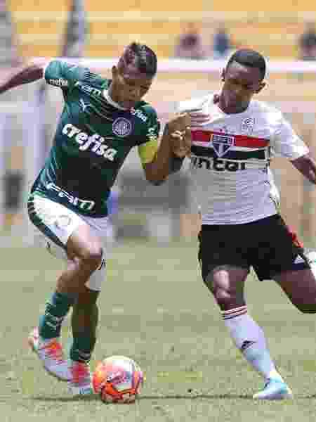 Verón retornou após a Copa e defendeu o Palmeiras contra o São Paulo - Cesar Greco/Ag. Palmeiras/Divulgação