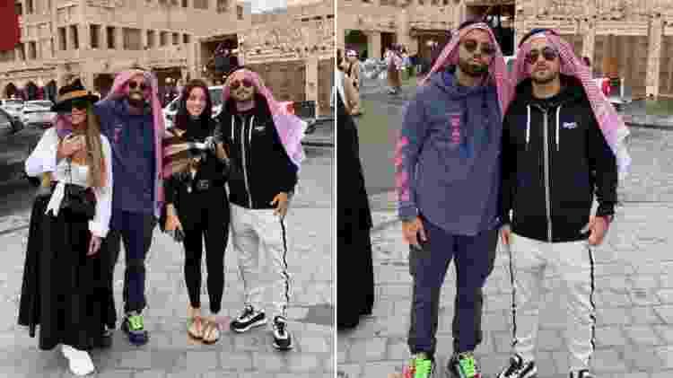 Rafaella Santos e Gabigol passeiam pelo Qatar com Arrascaeta e sua mulher, Camila Bastiani - Reprodução/Instagram - Reprodução/Instagram