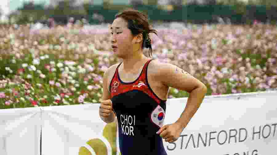 Tri atleta sul-coreana Choi Suk-hyeon - Handout/International Triathlon Union/AFP