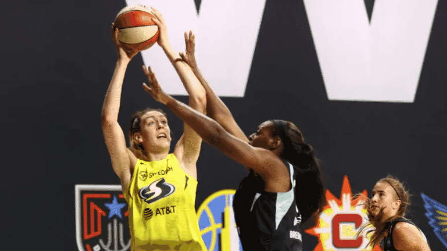 25.jul.2020 - Partida entre New York Liberty e Seattle Storm pela WNBA - Divulgação / WNBA