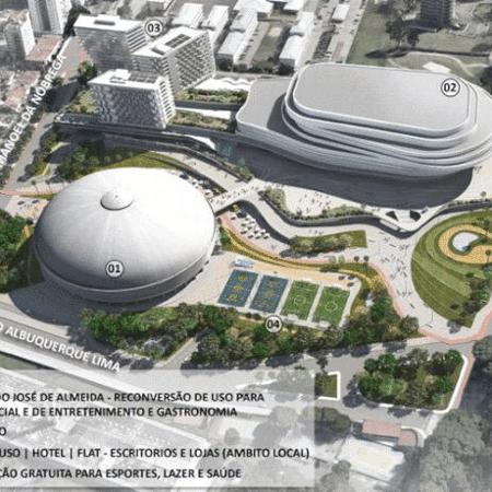 Estudo referencial do Complexo Esportivo do Ibirapuera - Divulgação