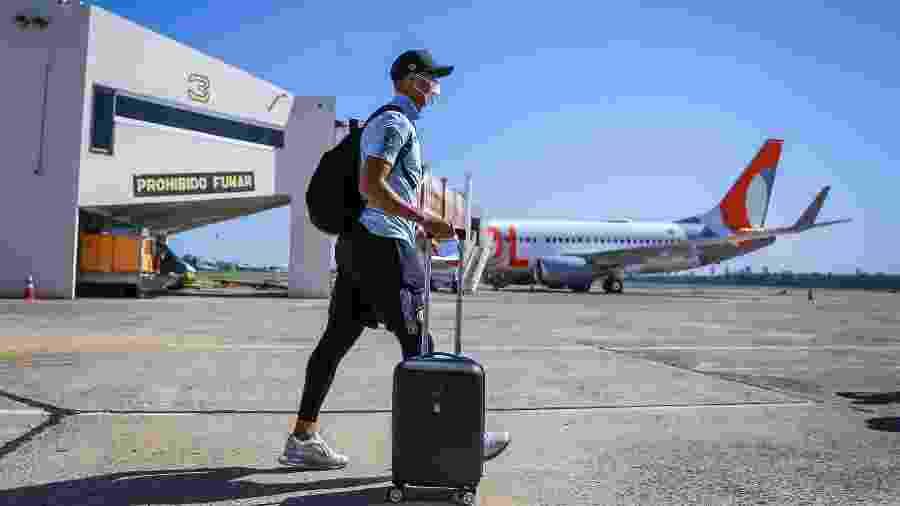 O Grêmio está no Paraguai, onde enfrenta o Guarani-PAR na quinta-feira - Lucas Uebel/Grêmio