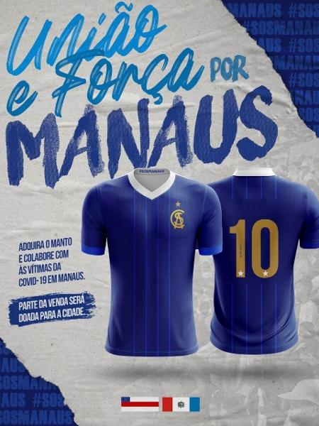 Parte do valor arrecadado com as vendas da camisa do CSA será enviado para Manaus - Reprodução