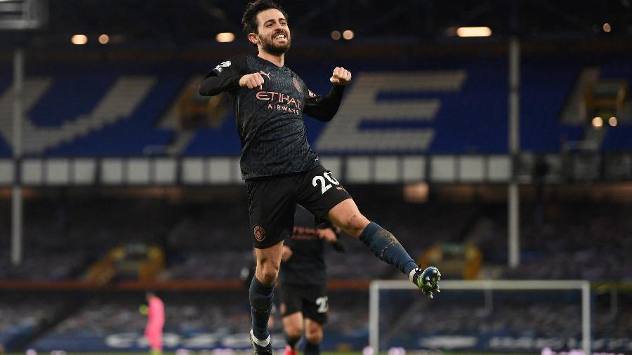 Bernardo Silva marcou o terceiro gol do Manchester City - MICHAEL REGAN/AFP