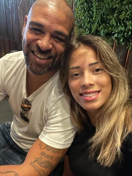 Adriano Imperador e Micaela Mesquita - Reprodução/Instagram