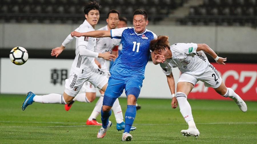 Japão goleia Mongólia nas Eliminatórias Asiáticas de 2021 - ISSEI KATO/REUTERS