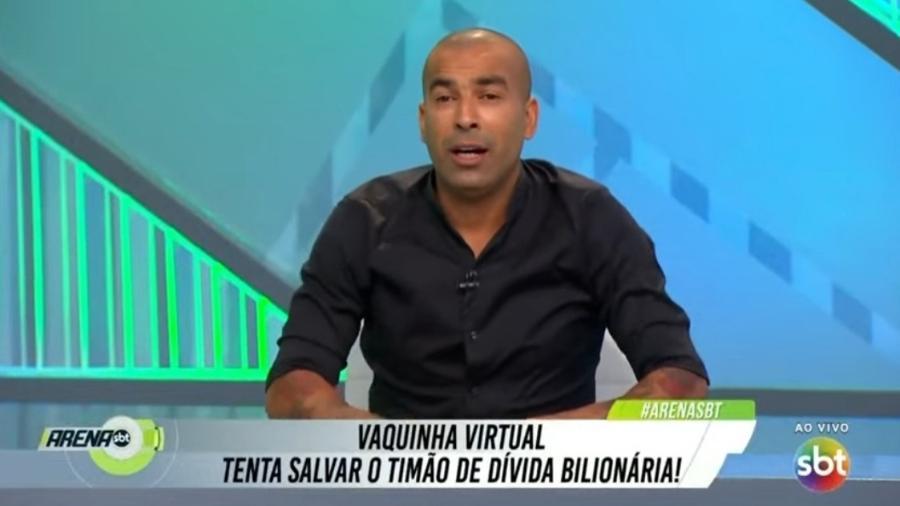 """Emerson Sheik critica """"vaquinha"""" virtual para ajudar Corinthians - Reprodução/SBT"""