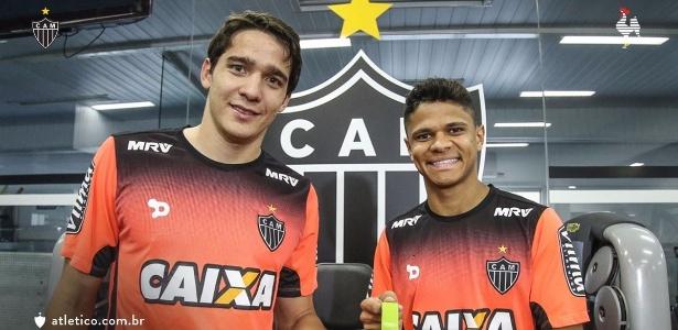 Atlético-MG divulgou imagem dos campeões olímpicos Uilson e Douglas Santos