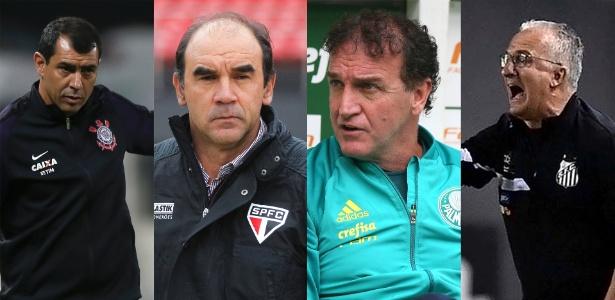 Fábio Carille, Ricardo Gomes, Cuca e Dorival Jr.