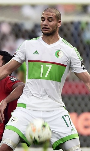 Mohamed Amin Ben Amor, da seleção da Argélia, na Copa Africana de Nações 2017