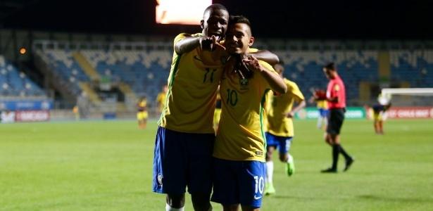 Alan Guimarães (direita) jogou pela seleção brasileira e se destacou na Copinha pelo Palmeiras