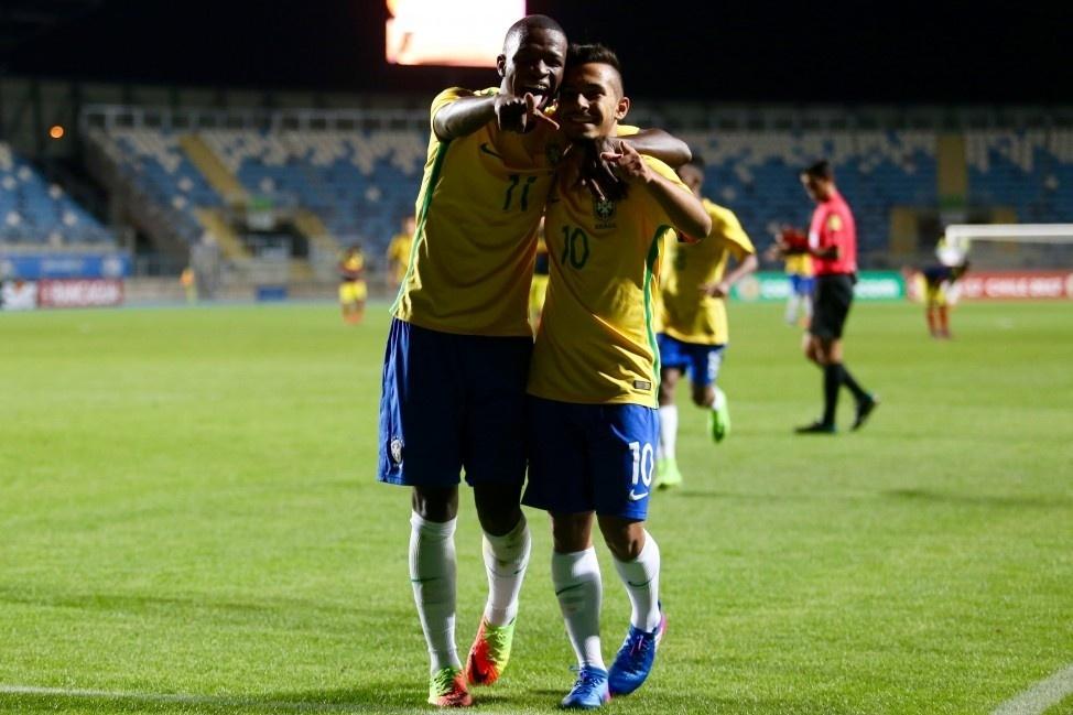 Vinicius Jr e Alan Guimarães seleção brasileira sub-17