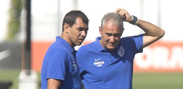 Carille e Tite trabalharam juntos no Corinthians e agora irão se enfrentar - Daniel Augusto Jr. / Ag. Corinthians