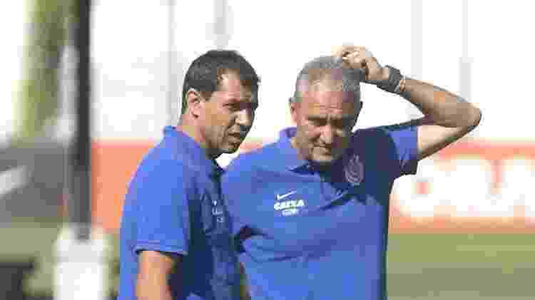 Fábio Carille e Tite, então técnico do Corinthians - Daniel Augusto Jr. / Ag. Corinthians - Daniel Augusto Jr. / Ag. Corinthians