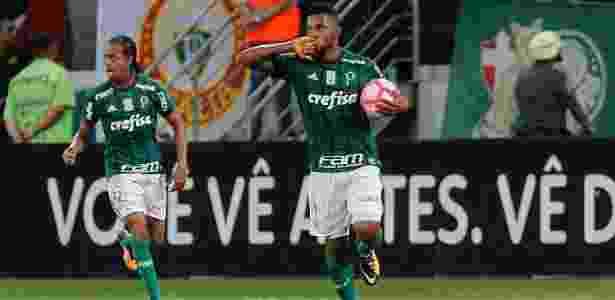 Borja comemora gol do Palmeiras sobre o Cruzeiro - Daniel Vorley/AGIF