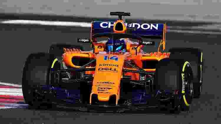 Nova McLaren de 2018 nas pistas  - Reprodução/Twitter - Reprodução/Twitter