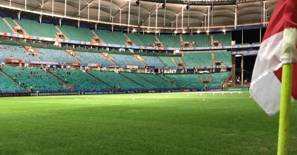 Arena Fonte Nova pronta para receber Bahia x Internacional, pelo Brasileirão 2018