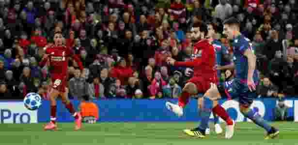Salah ampliou no fim do primeiro tempo, após passe de primeira de Shaqiri - Carl Recine/Reuters