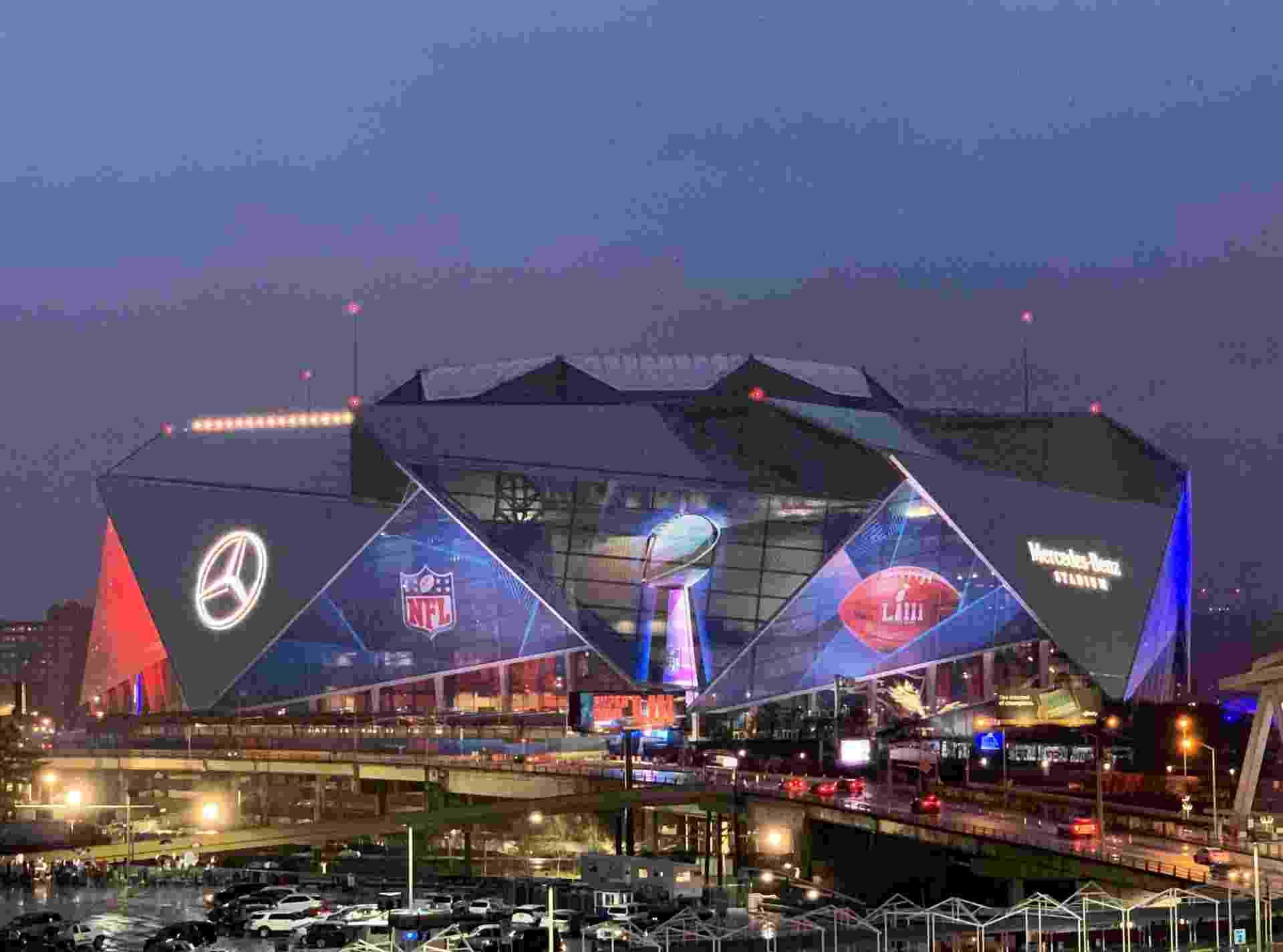 Mercedes-Benz Stadium, em Atlanta, ganhou um visual todo novo antes mesmo da partida - Kirby Lee/USA TODAY