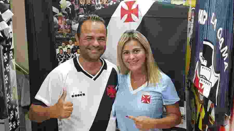 Taxista Gilmar Silva é presenteado por torcedora do Vasco com camisa oficial - Arquivo Pessoal