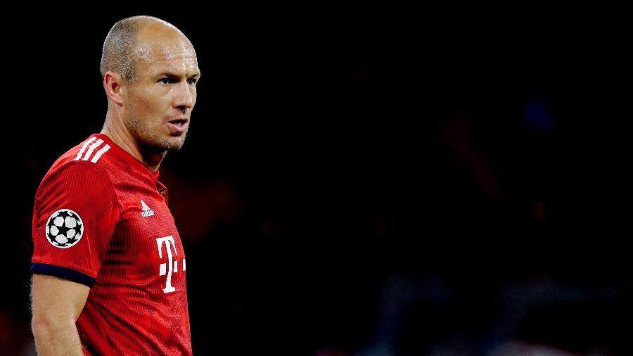 Arjen Robben, durante jogo do Bayern de Munique - Erwin Spek/Soccrates/Getty Images