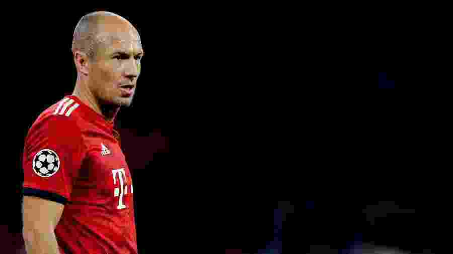 Arjen Robben, durante jogo do Bayern de Munique - Erwin Spek/Soccrates/Getty Images