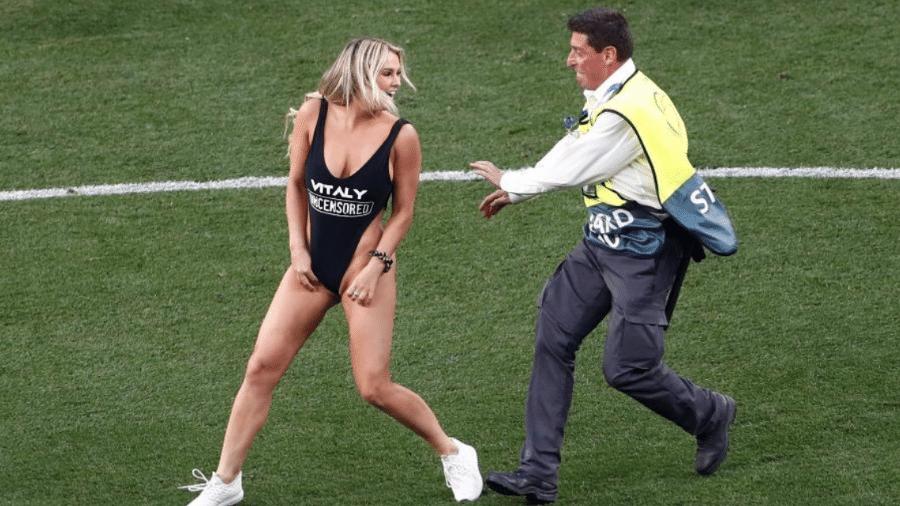 Invasora da final da Champions de 2019, Kinsey Wolanski - Sergio Perez/Reuters