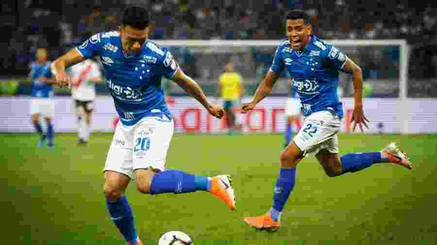 Marquinhos Gabriel volta de suspensão e pode ganhar a companhia de Pedro Rocha no setor ofensivo - Vinnicius Silva/Cruzeiro