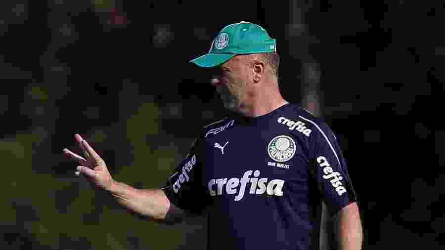 Mano Menezes comanda treino do Palmeiras na Academia de Futebol - Cesar Greco/Ag. Palmeiras/Divulgação