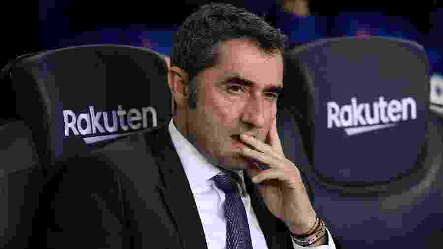 O técnico Ernesto Valverde, do Barcelona - Josep LAGO / AFP