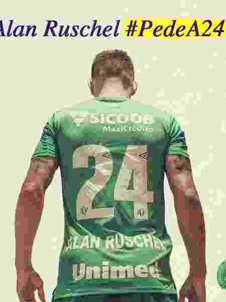 Alan Ruschel com a camisa 24 da Chapecoense - Divulgação