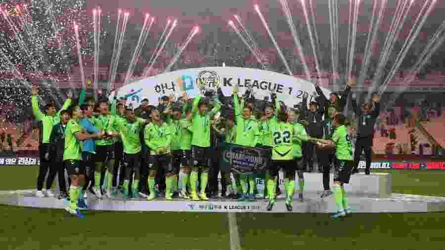 Jeonbuk Hyundai é o atual tricampeão do Campeonato Sul-Coreano - Divulgação
