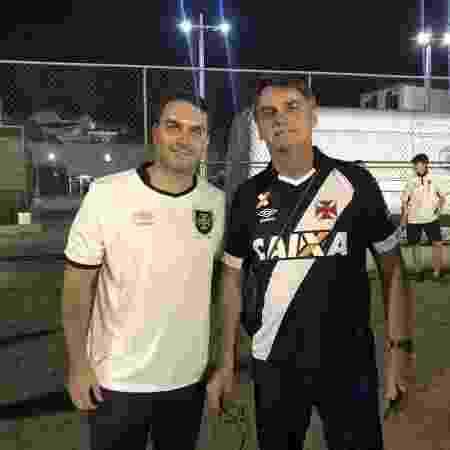 Flávio e Jair durante jogo do Vasco pela Copa Libertadores de 2018, em São Januário - Bruno Braz / UOL Esporte