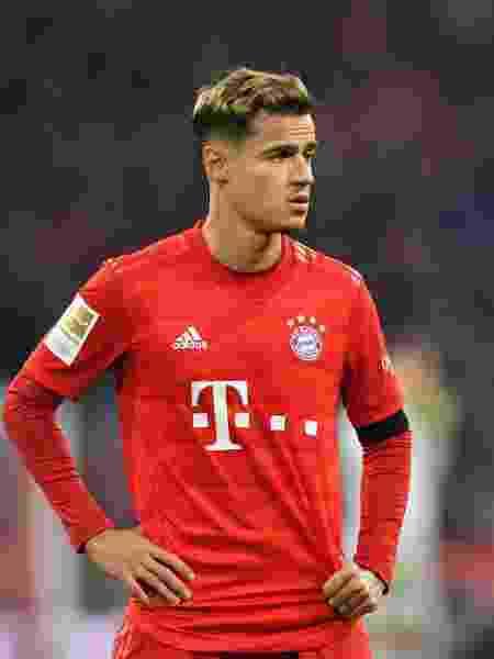 Philippe Coutinho, durante partida do Bayern de Munique - Sebastian Widmann/Bongarts/Getty Images