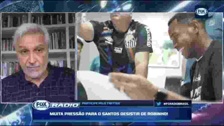 Sormani cobra rescisão contratual de Robinho após revelação de gravações - Reprodução/Fox Sports