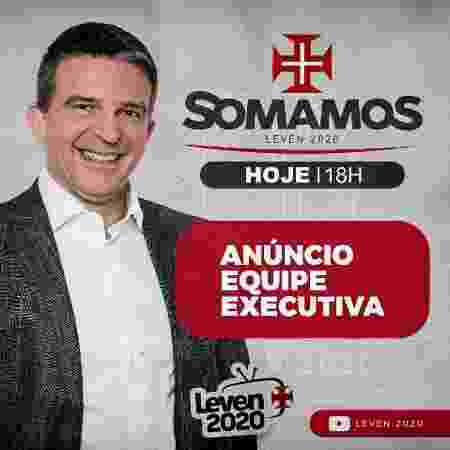 Leven Siano é um dos cinco candidatos do Vasco à presidência na eleição que acontecerá dia 7 de novembro - Divulgação / Somamos