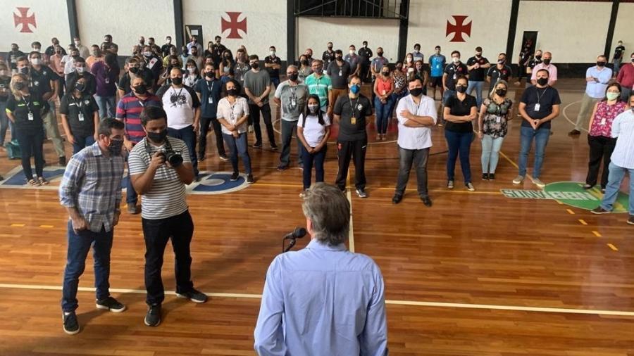 Presidente do Vasco, Jorge Salgado demitiu 186 funcionários em março para reduzir os custos do clube - Divulgação