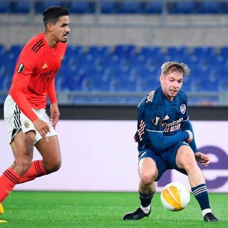 Lucas Veríssimo estreia pelo Benfica em partida contra o Arsenal na Liga Europa - EFE/EPA/ETTORE FERRARI