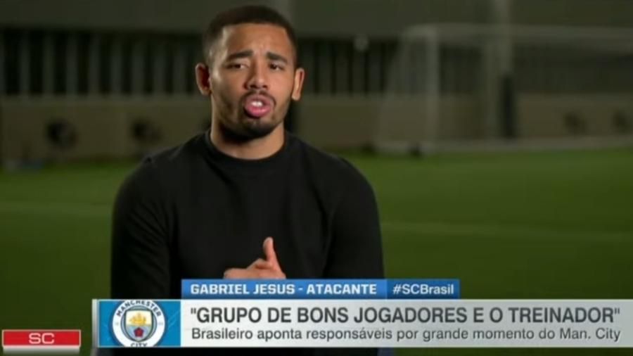 Gabriel Jesus diz que Guardiola mudou durante pandemia de coronavírus - Reprodução/ESPN