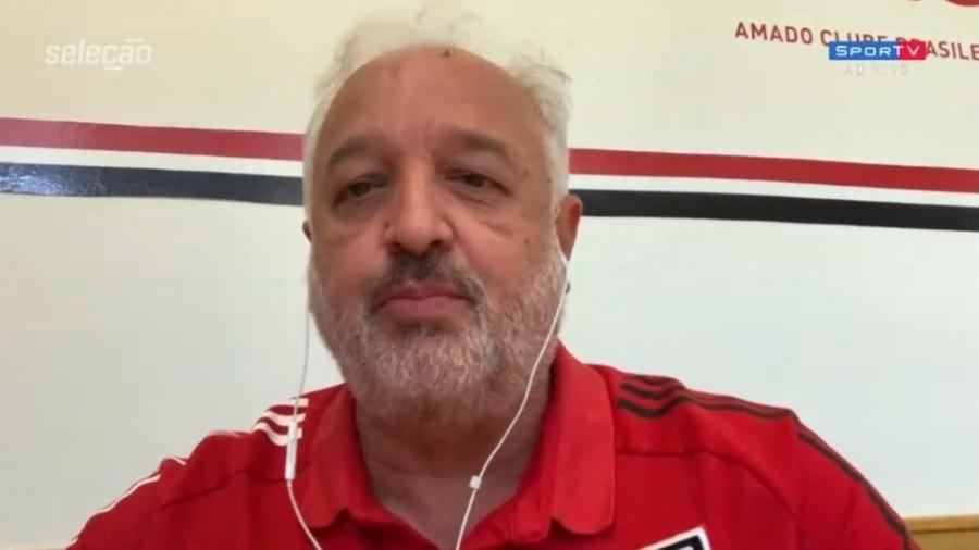 """Carlos Belmonte, diretor de futebol do São Paulo, no """"Seleção SporTV"""" - Reprodução/SporTV"""
