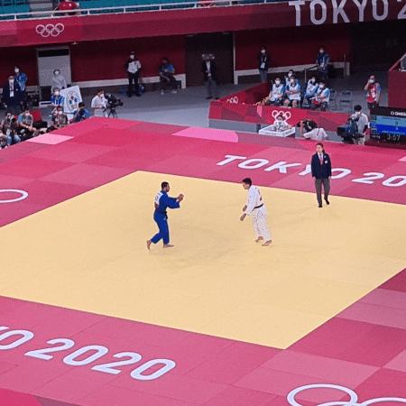 Daniel Cargnin encara Mohamed Abdelmawgoud nos Jogos Olímpicos de Tóquio - Reprodução/Twitter