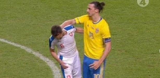 Ibrahimovic se desentendeu com capitão tcheco Sivok - Reprodução